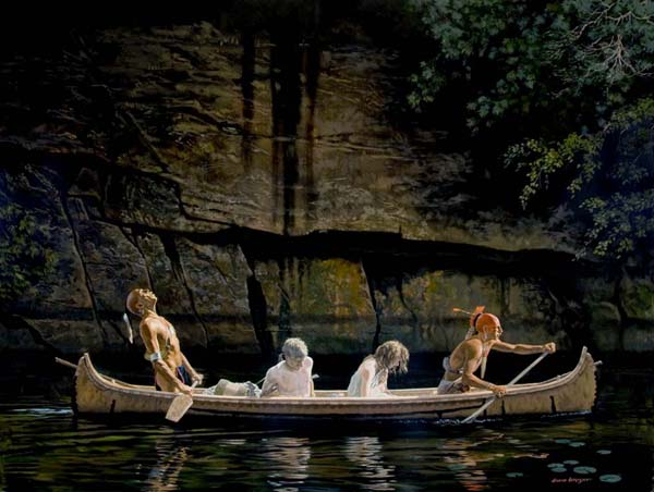 Indians-canoe-white-women-captives