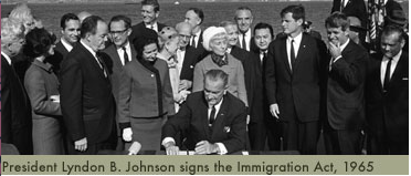 LBJ-Signs-Immigration-Act-1965