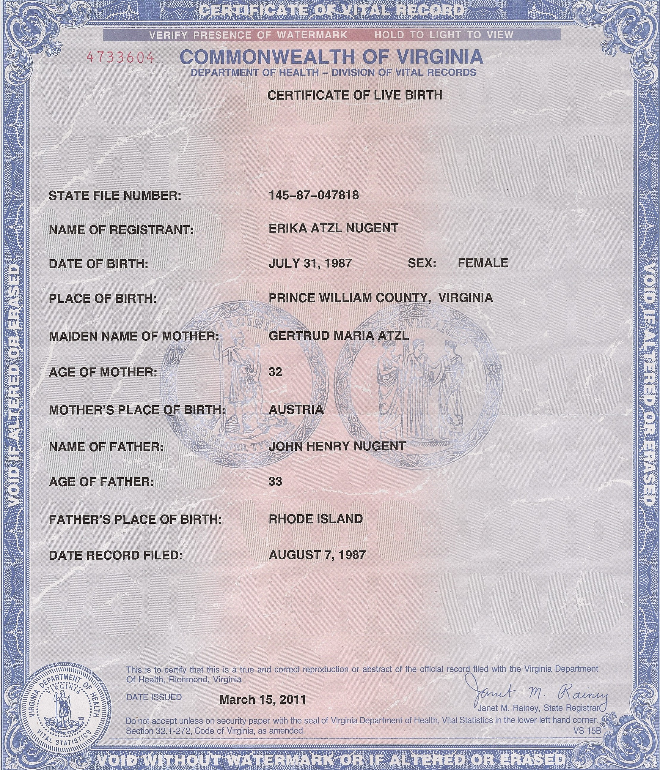 English birth certificates i have and obongo does not firearms and then erikas birth certificate and here is my legal name change in 2004 in smithfield rhode island aiddatafo Images