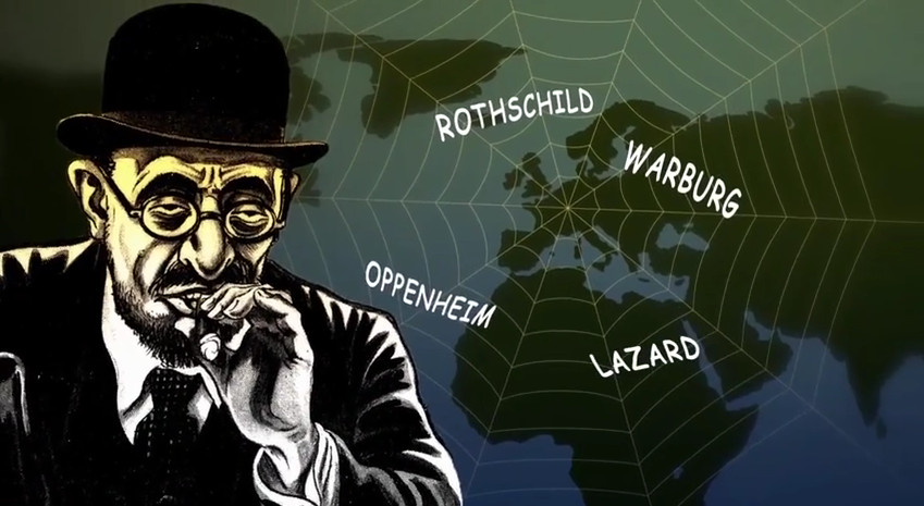 jew-banker-cigar-oligarch-names-rothschild-etc-spider-web-world-map