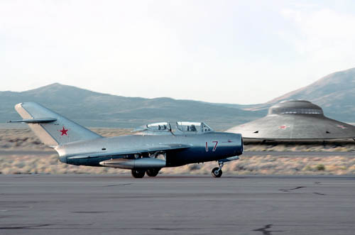 MiG-21 Taxiing on a Runway