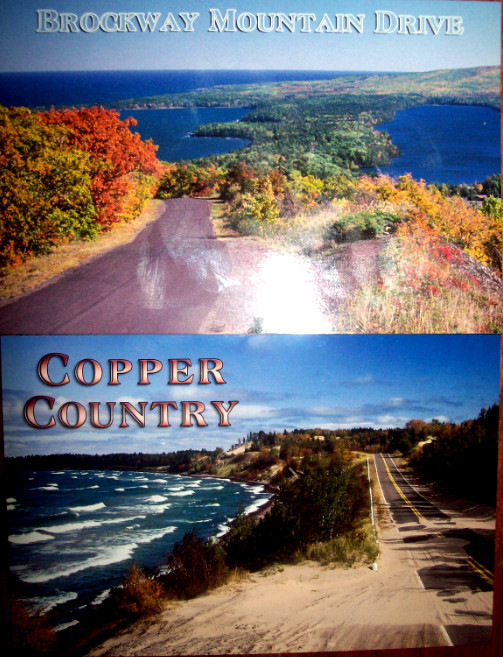 two-postcards-up-michigan-brockway-mtn-dr-lake-superior