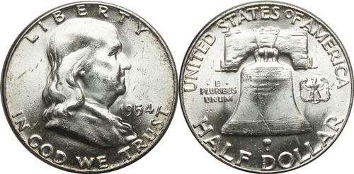 1954-franklin-half-dollar