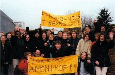 1997 students protest for Reynouard