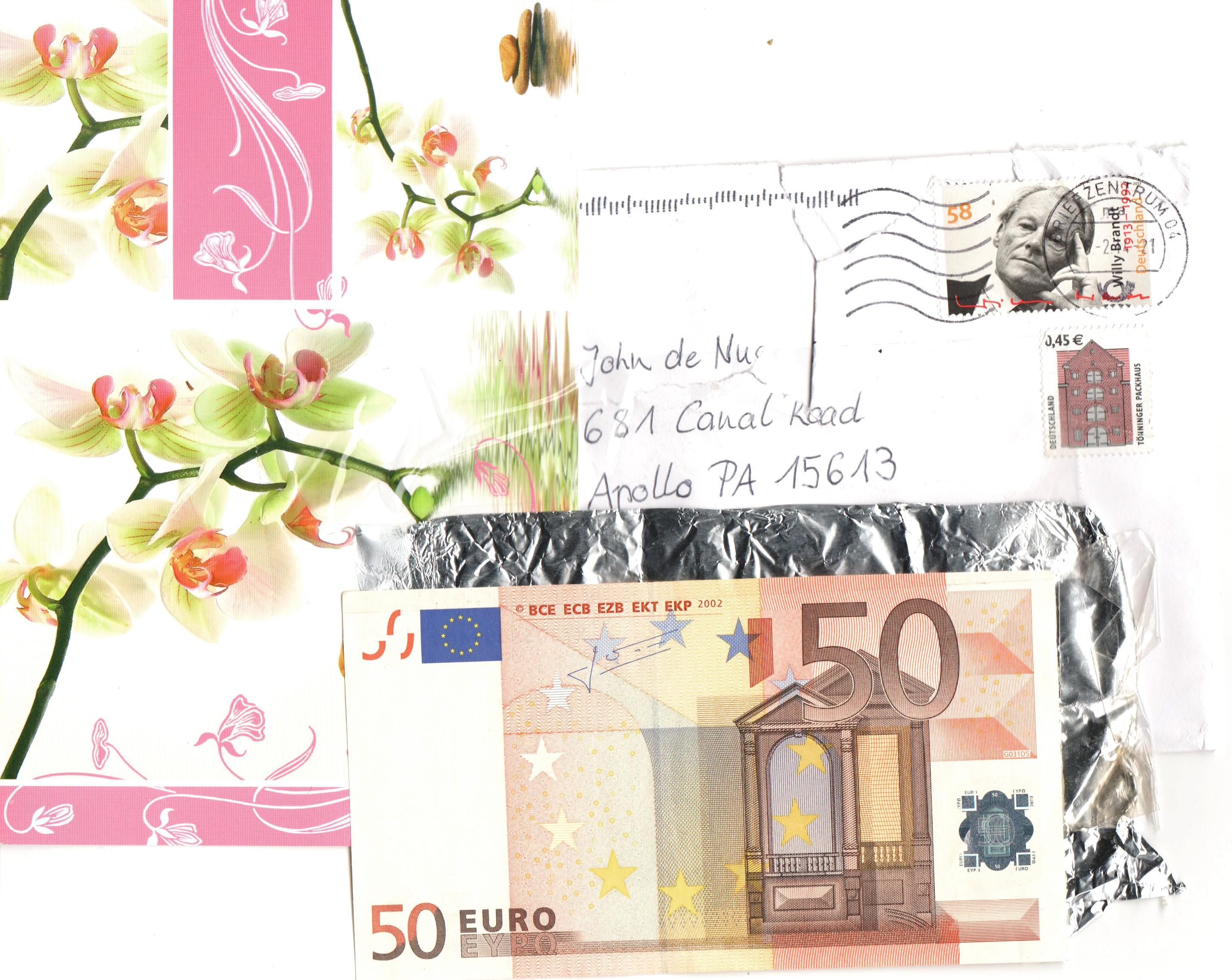 50-Euro-Folien-Karte