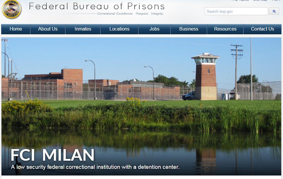 FCI-Milan-michigan-federal-prison