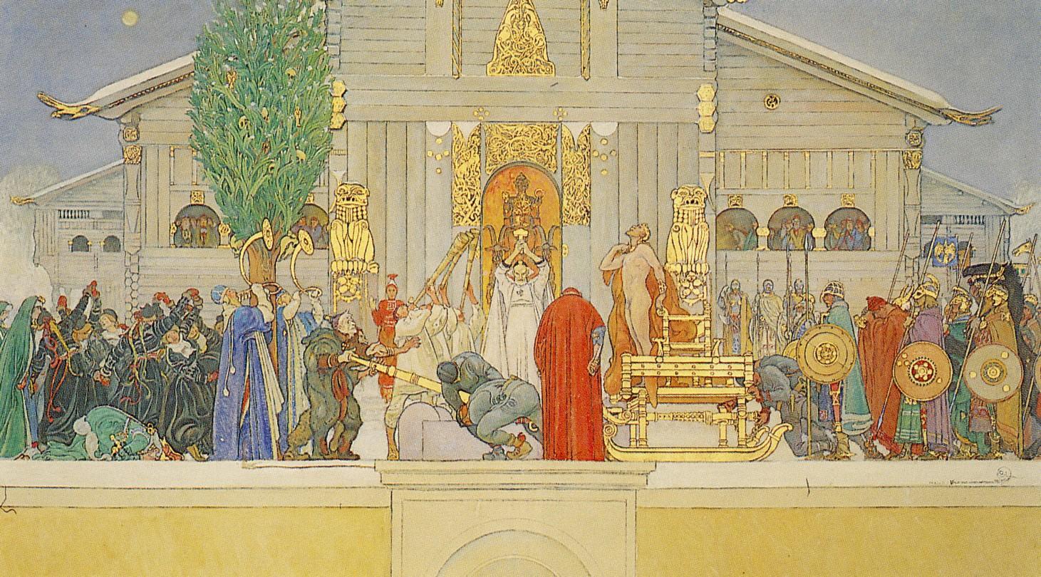 Larsson_midvinterblot_skiss_1915-swedish-king-sacrifices-self