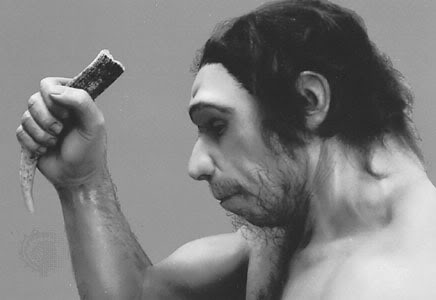 Neanderthal-profile-bw