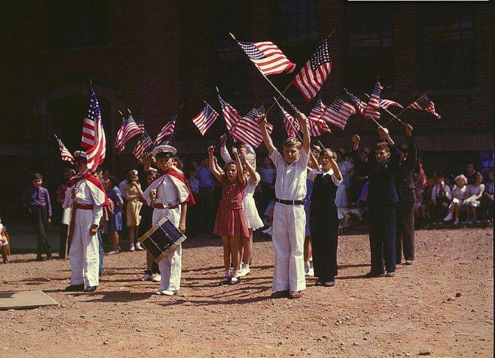 Patriotic demonstration Southington CT May 1942
