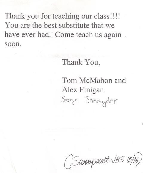 Swampscott JHR serge Octo 1996 testimonial