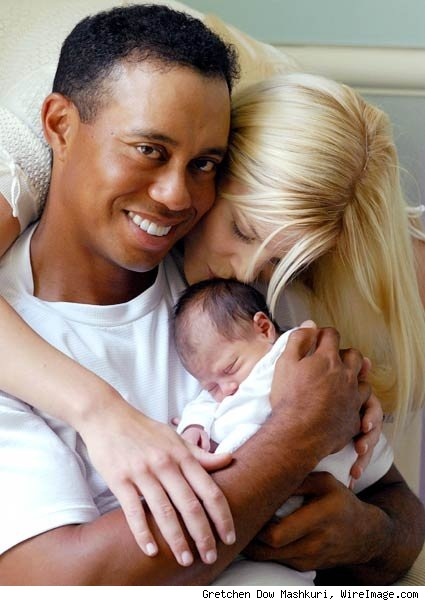 Woods and wife