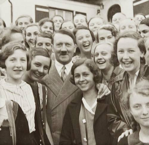 Ah german amidst smiling group german girls john de nugent ah german amidst smiling group german girls voltagebd Image collections