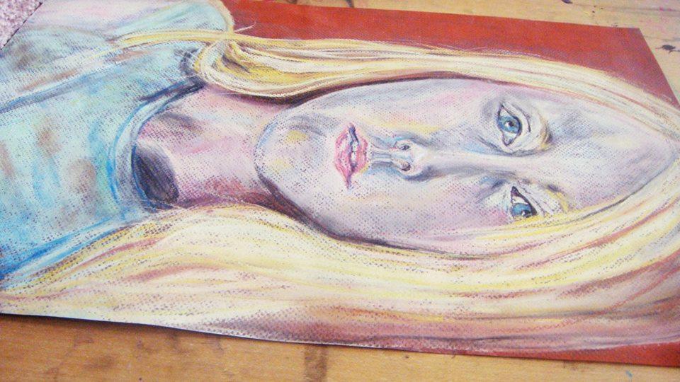 angela-hussar-blonde-blue-eyes-painting-lying-sideways