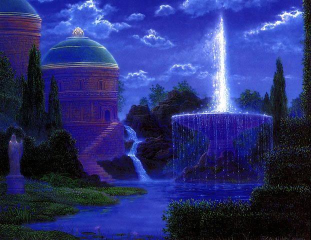 beautiful-blue-image-dusk-fountain