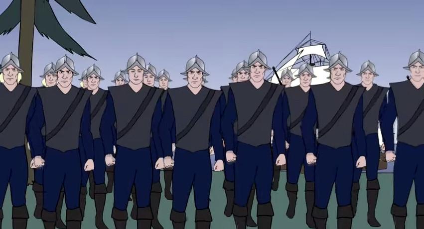 cartoon-english-helmeted-soldiers-1650