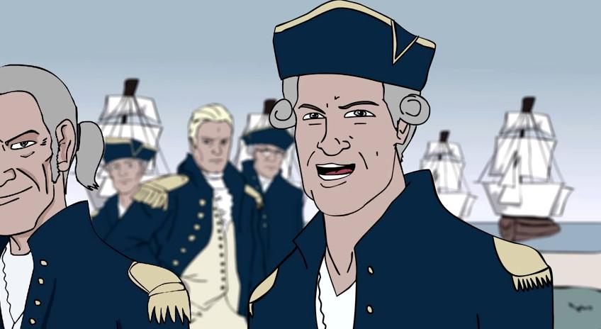 cartoon-english-sea-captain-blond-officer-sailing-warships-1650