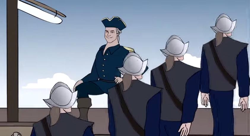 cartoon-english-sea-captain-helmeted-soldiers-1650