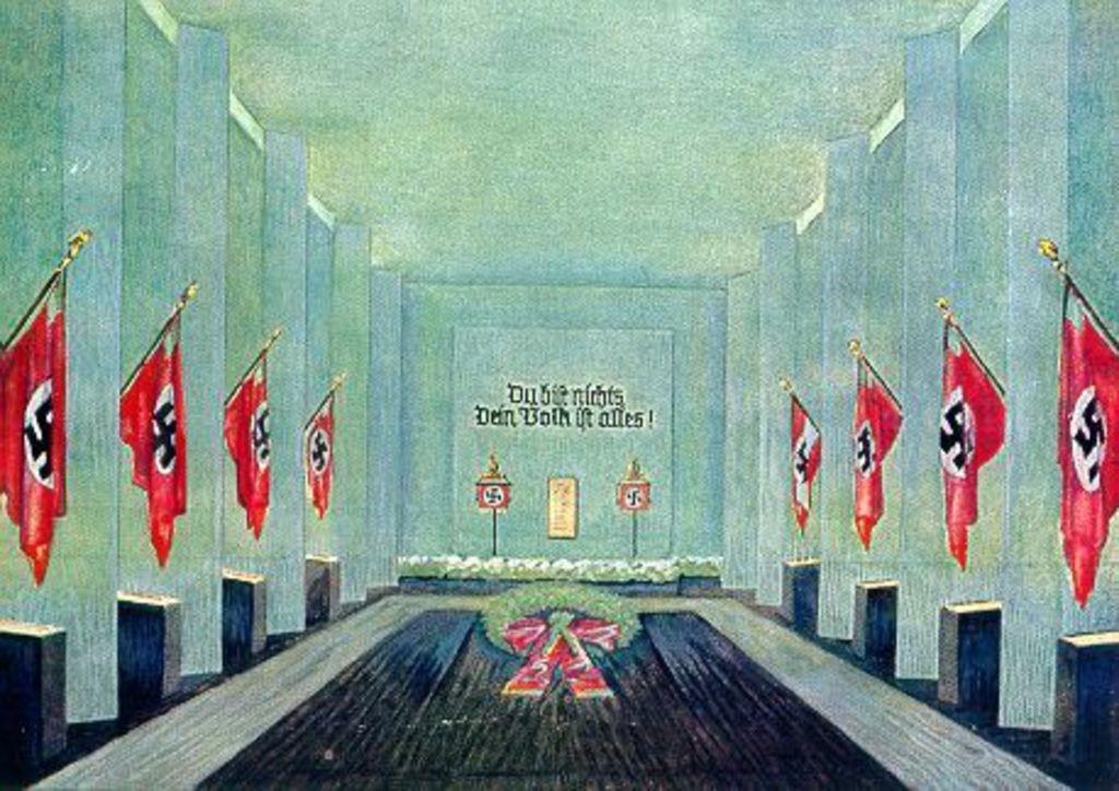 du-bist-nichts-ns-painting-hall-flags
