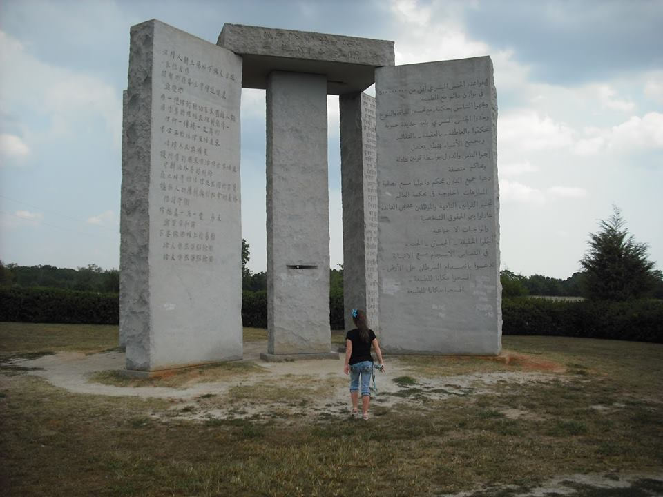 georgia-guidestones-woman-approaches