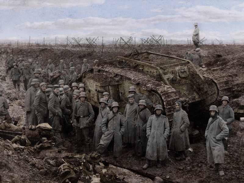german-infantry-trench-tank-wwi
