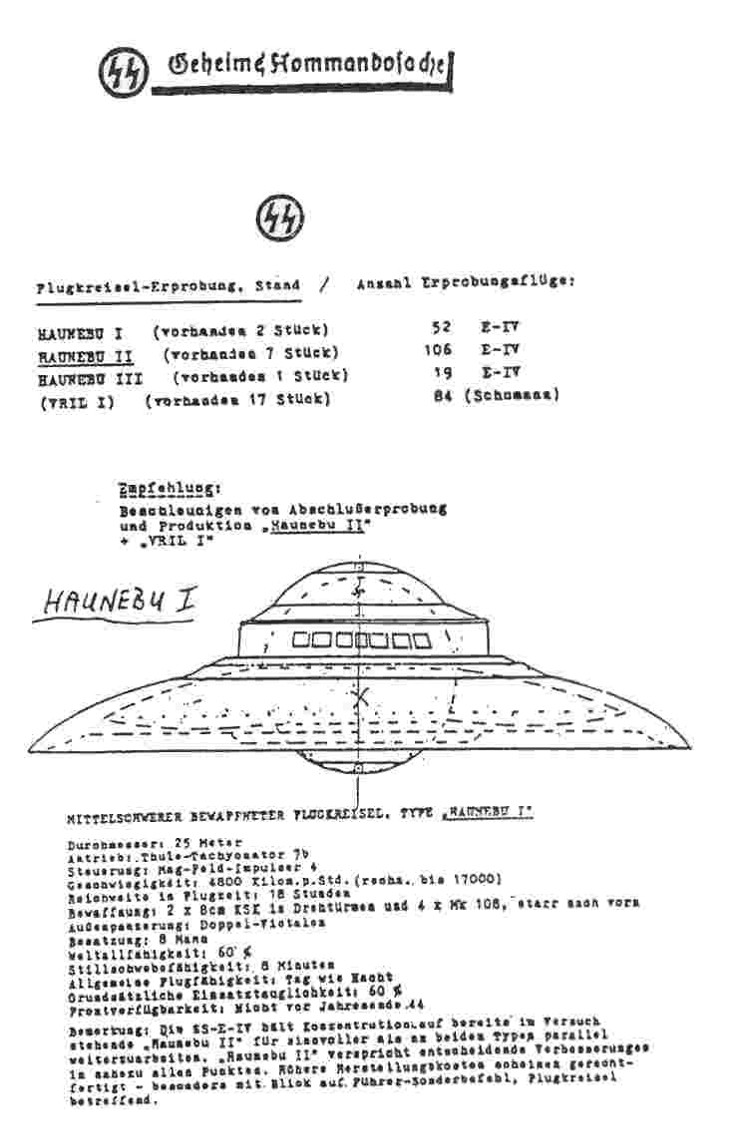 haunebu-technical-information
