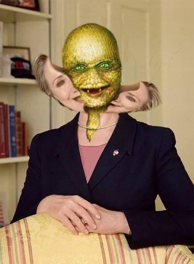 hillary clinton-reptilian-inside