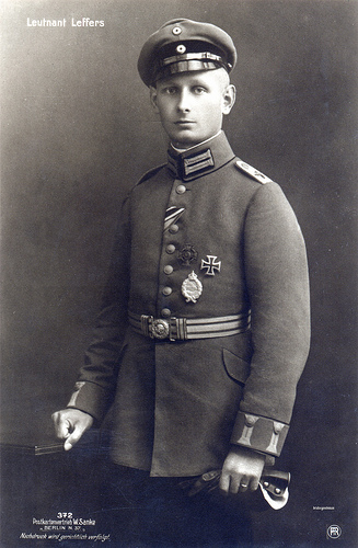 lieutenant-leffers-iron-cross-first-class-wwi