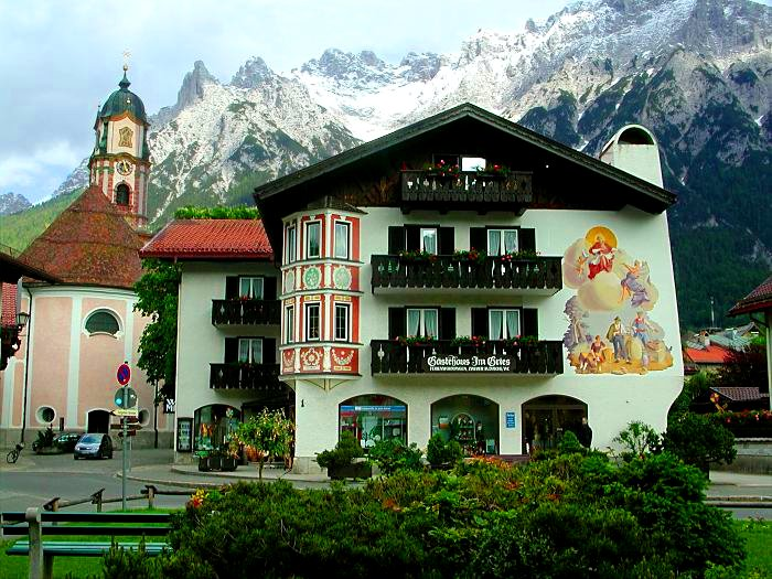 mittenwald-church-mountains-snow