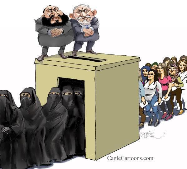 muslim-jew-leaders-put-white-women-in-burkhas