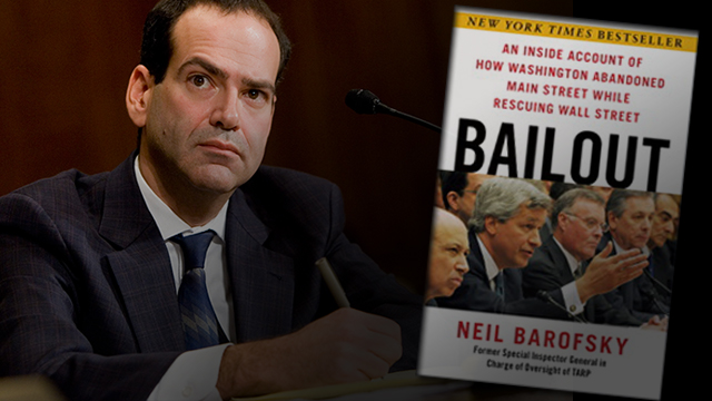 "Neil Barofsky's excellent ""Bailout"" book has NO mention of his courageous 2010 testimony to Congress — the Fed bribed the bailed-out banks with high interest rates to lend it the money right back!"