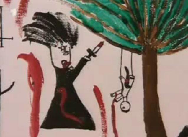http://johndenugent.com/images/ritual-murder-hoisted-bleeding-child-raised-knife-pentagram-red-thing-between-legs.jpg