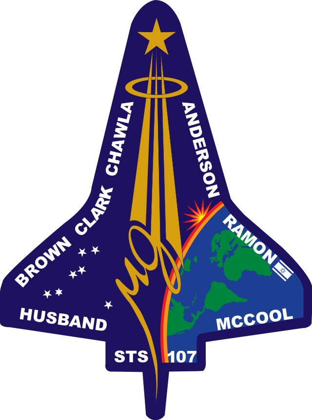 shuttle-columbia-2003-STS-107_Flight_Insignia-one-star-of-david