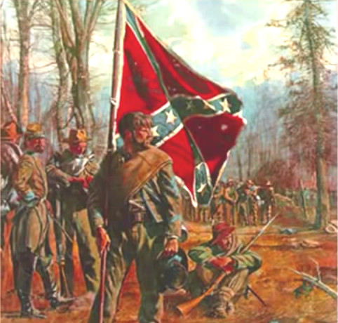 southern-confederate-soldier-bearing-dixie-flag-gazes