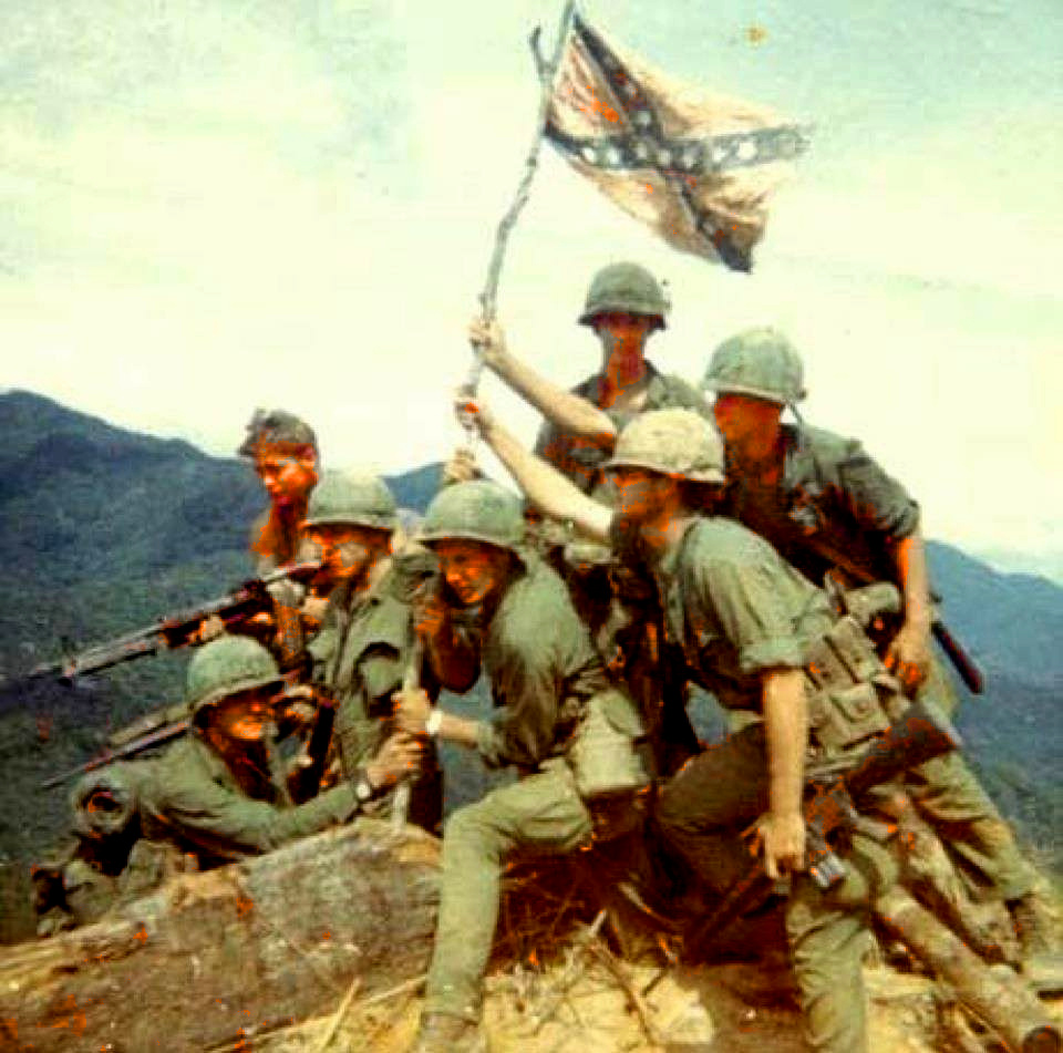 southern-copperhead-us-marines-host-confederate-flag-iwo-jima-style
