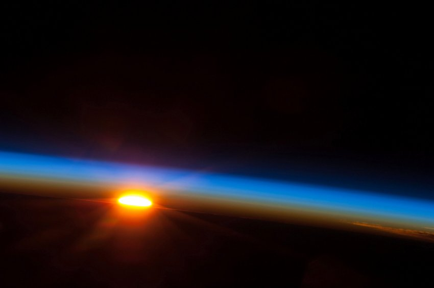 Sunrise seen from ISS