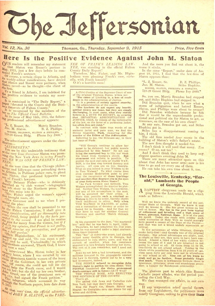 the-jeffersonian-volume-12-issue-36-page-01-truth-on-slaton-and-lynching