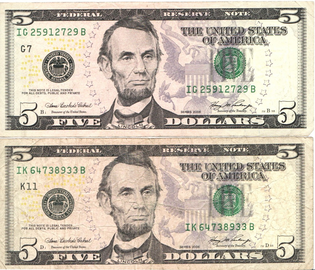 two-us-five-dollar-bills