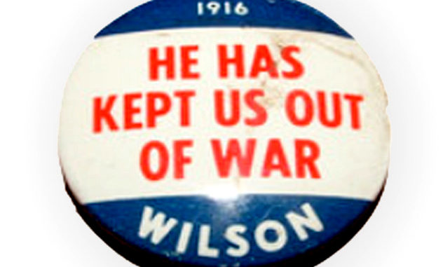 Exactly 100 years apart on April 6: Wilson attacks Germany, Trump attacks Syria